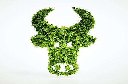 3 d バイオ牛肉に署名します。大きな高品質のエコロジー シンボルのセットの 1 つ。私の生態のセットを確認します。 写真素材