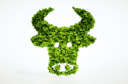greenhouse gas: 3d bio beef sign. One of larger set of high quality ecology symbols. Check my ecology set.