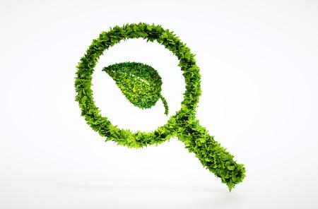 3 d 環境フォーカス標識です。大きな高品質のエコロジー シンボルのセットの 1 つ。私の生態のセットを確認します。 写真素材