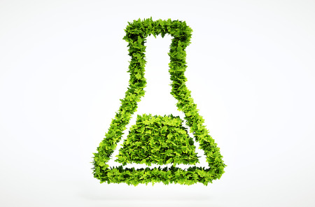 green chemistry: 3d bio science sign. One of larger set of high quality ecology symbols. Check my ecology set.