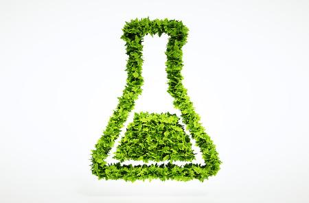 grün: 3d bio wissenschaft zeichen. Eine der größeren Gruppe von hoher Qualität Ökologie Symbole. Überprüfen Sie mein Ökologie Satz. Lizenzfreie Bilder