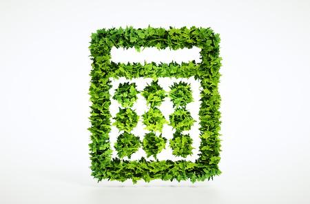 3d eco Rechner Zeichen. Standard-Bild - 39187958