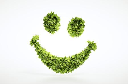 エコロジー 3 d レンダリング笑顔顔記号 jpg ファイルに含まれているクリッピングパス