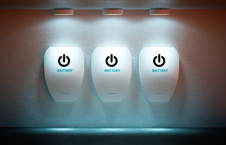 新しいエネルギーの概念 - 個人のホーム バッテリ。 写真素材