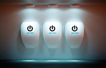 electric power: New energy concept - personal home battery.