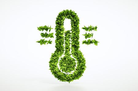 Eco Klimawandel sign - mit Clipping-Pfad enthalten Standard-Bild - 42030323