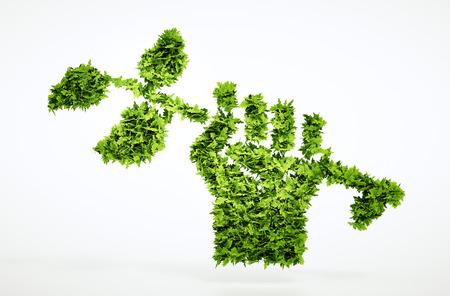 develope: Green revolution sign