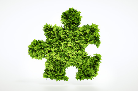 environmental friendly: Eco puzzle sign