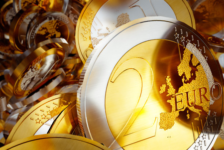 easing: Euro coins background illustration