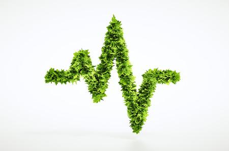 zdravotnictví: Eco život puls znamení Reklamní fotografie