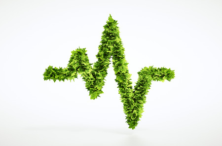 health: Eco life pulse sign   Stock Photo