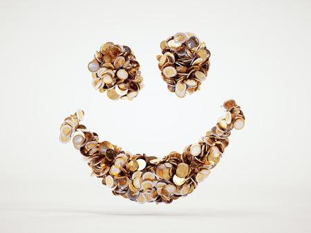 3d smile geld bord met het knippen inbegrepen weg