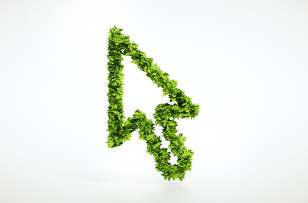 pointer: Eco cursor sign with included clipping path
