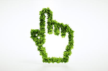 klik: Eco wijzer bord met het knippen inbegrepen weg