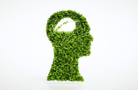 develope: Ecological thinking concept isolated on white background. Clipping path is also included.