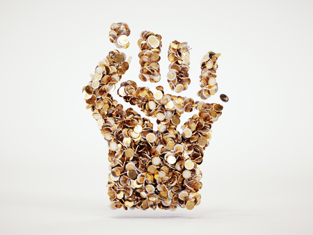 3d money revolt sign Stock Photo
