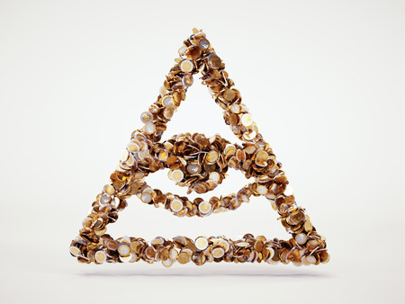3d money conspiracy sign Stock Photo