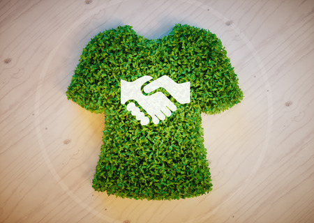 considerate: Eco fashion concept Stock Photo