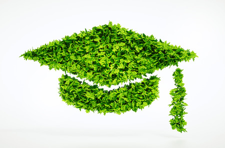 university: Eco education symbol - with included clipping path Stock Photo