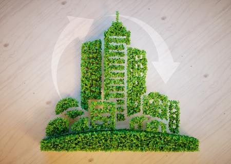 緑豊かな街コンセプト 写真素材