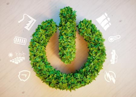 green concept Clean d'énergie écologique