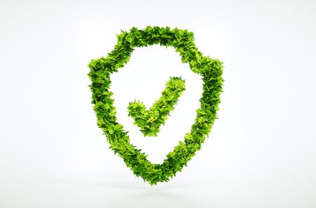 Nature symbole de protection avec chemin de détourage