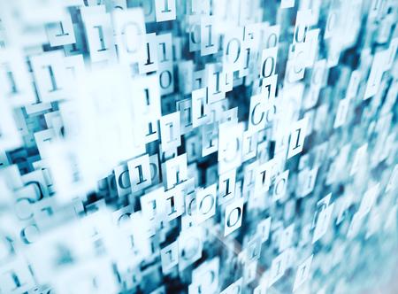 digital technology: 3d Binary code - digital technology concept Stock Photo