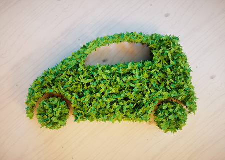 environmentally friendly: Ecology car concept
