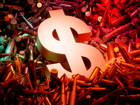 arms trade: Arms trade business concept. 3D computer generated image. Stock Photo