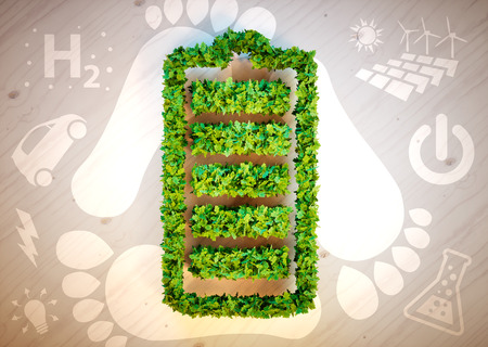Sustainable energy concept. 3D computer generated image. Archivio Fotografico