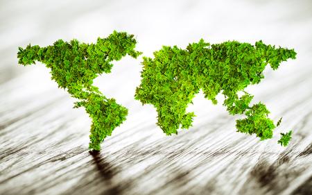 Sustainable world - 3d illustration 版權商用圖片 - 56972932