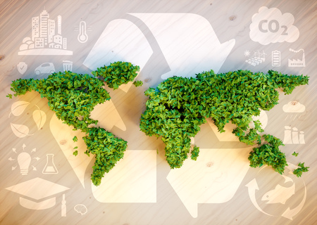 Sustainable world concept. 3D computer generated image. Stock Photo - 56972931