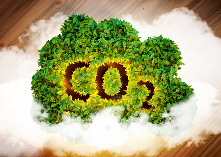 Greenhouse gas concept. 3D computer generated image. Archivio Fotografico