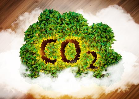Greenhouse gas concept. 3D computer generated image. Standard-Bild