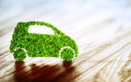 propulsion: Sustainable transport concept. 3D Illustration.