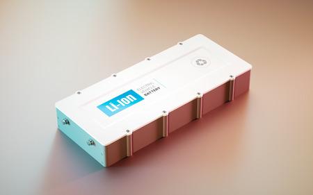 EV (electric vehicle) Li-Ion battery concept. distant view. 3d rendering.