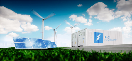 Concept of energy storage system.