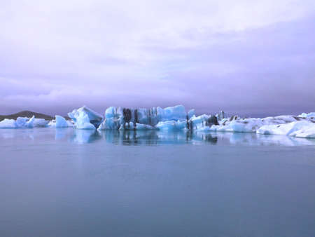 ice formation / iceberg in a bay
