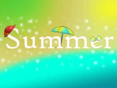 Summer, beach and sea, vacation and rest under the sun.