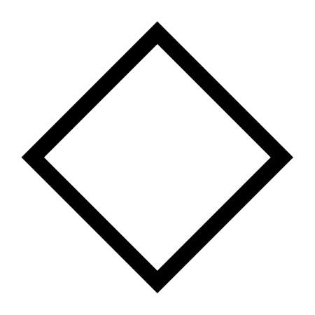 Black square on a white background. Isolated quadrilateral.