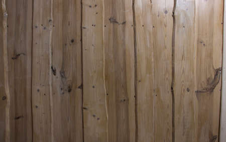 Wooden house design, background texture of wooden boards, wood decorated house.