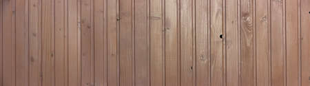 Panorama background with wooden brown boards, rails with texture.