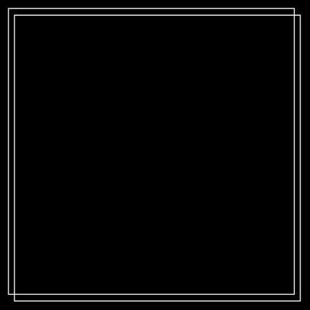 Frame of two white lines on a black background. Illustration for design. 免版税图像