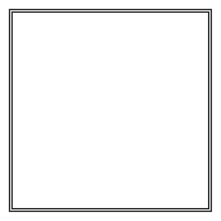 Frame of two black lines on a white background. Illustration for design.