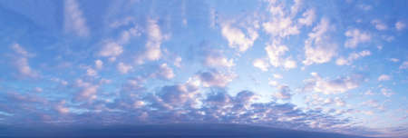 Panorama of morning clouds covering the sunrise.