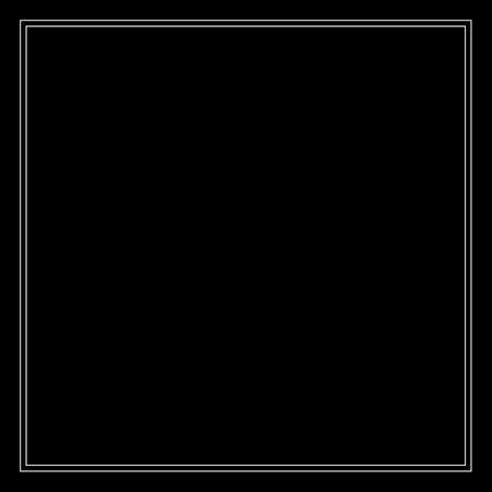 Frame of two white lines on a black