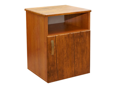 furniture wood bedside table isolated photo