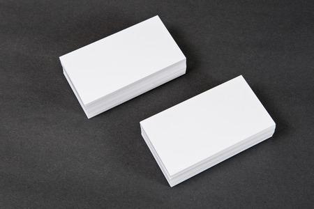 Photo of business cards. Mock-up for branding identity. For graphic designers presentations and portfolios