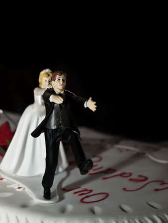 Close up of a wedding cake detail ideal as a backdrop