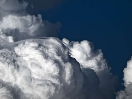 lenticular: Towering detailed cumulus cloud with lenticular formations